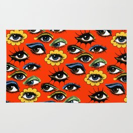 60s Eye Pattern Rug