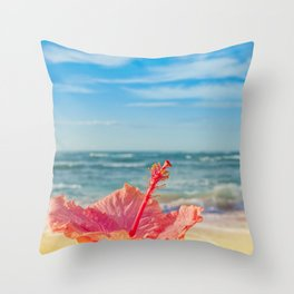 peace love and aloha Throw Pillow