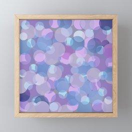 Pastel Pink and Blue Balls Framed Mini Art Print