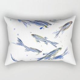 Fish art Danio zebrafish Rectangular Pillow