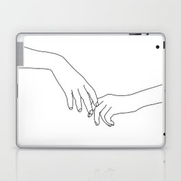 Hands line drawing illustration - Daily Laptop & iPad Skin