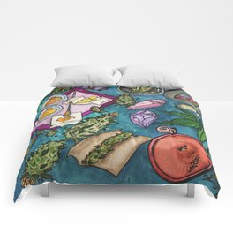Cannabis Altar II Comforters