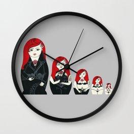 Alternative Stripper Russian Doll Wall Clock