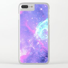 Pastel Galaxy Clear iPhone Case
