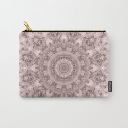 Pink marble kaleidoscope, ornament elements print Carry-All Pouch