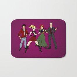 Cartoony Buffy and the gang Bath Mat