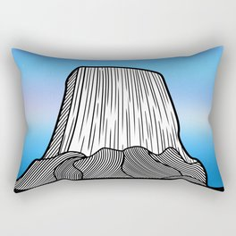 Devils Tower Rectangular Pillow