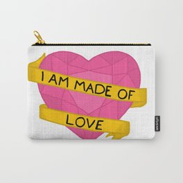 I am made of love crystal heart Carry-All Pouch