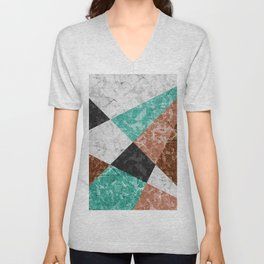 Marble Geometric Background G434 Unisex V-Neck