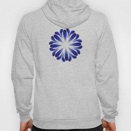 Dark blue flowers in Russian style Hoody