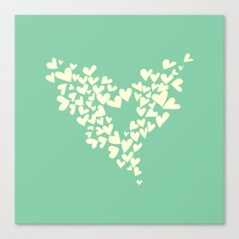 Heart In Hearts. Clouds in the hearts Canvas Print