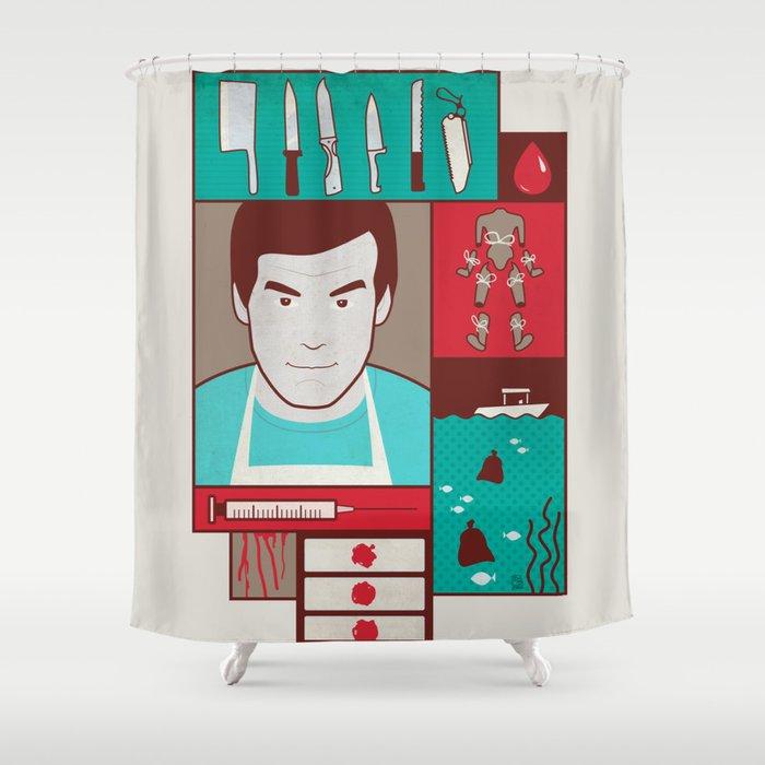 Dexter Shower Curtain By Josesala