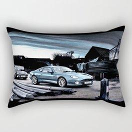 ASTON MARTIN AUTOMOBILE AT ENGLISH HARBOUR Rectangular Pillow