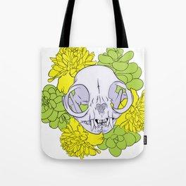 Persian Kitty Skull Tote Bag