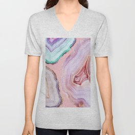 Mineral Agates #Glam collection Unisex V-Neck
