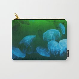 Moon Jellyfish - Blue and Green Carry-All Pouch