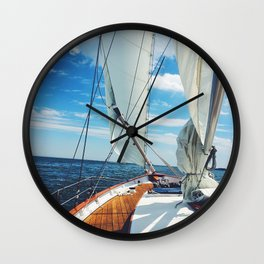 Sweet Sailing Wall Clock