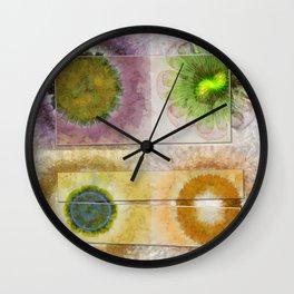 Lazed Consonance Flowers  ID:16165-024553-49331 Wall Clock