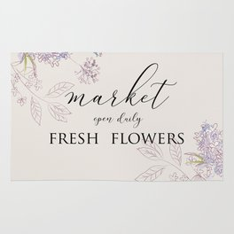 fresh flower market Rug