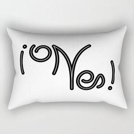 Indecisive Yes or No (black text) Rectangular Pillow