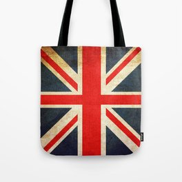 Vintage Union Jack British Flag Tote Bag