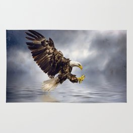 Bald Eagle swooping Rug