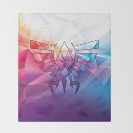 Zelda Triforce colorful Diamond Throw Blanket