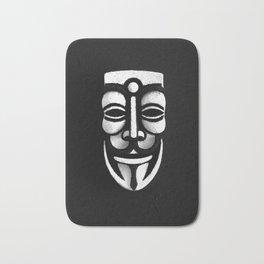 VforVendetta Mask Sculpture Bath Mat