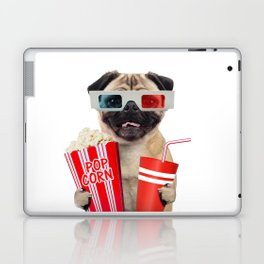 Pug watching a movie Laptop & iPad Skin