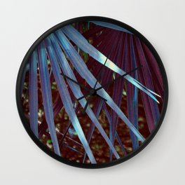 Dream Blue Palmetto Wall Clock