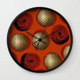 ORANGE RED GOLD Wall Clock