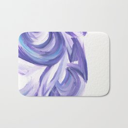 Wind on the City 3 - Abstract painting in modern lavender purple with hints of bright blue Bath Mat