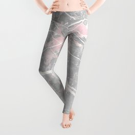 Pastel Pink & Grey Marble - Ombre Leggings