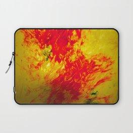 Orange, Yellow, and Blue Finger Painting Laptop Sleeve