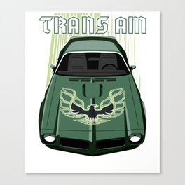 Firebird Transam 73 - Green & Black Canvas Print
