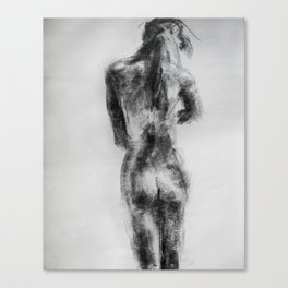 charcoal figure Canvas Print