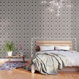 Bridal Blush Floral Geometric Pattern Wallpaper