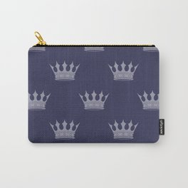 Royal Blue with Light Blue Crowns Carry-All Pouch