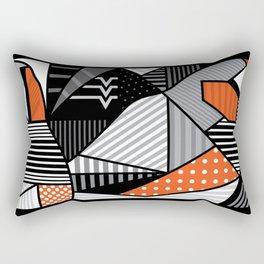 zebra finches Rectangular Pillow
