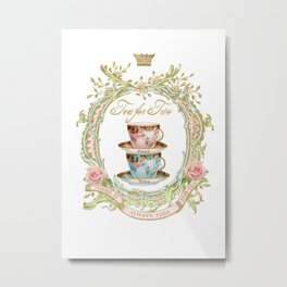 Tea for two Metal Print