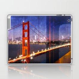 City Art Golden Gate Bridge Composing Laptop & iPad Skin