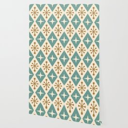 Mid Century Modern Atomic Triangle Pattern 102 Wallpaper