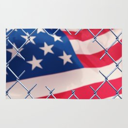 Illegal immigration concept Rug