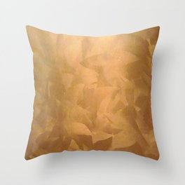 Brushed Copper Metallic - Beautiful - Rustic Glam - Fancy Faux Finishes - Metallic Paint Throw Pillow