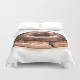 Chocolate Glazed Donut Duvet Cover