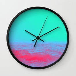 Neon Sea Wall Clock