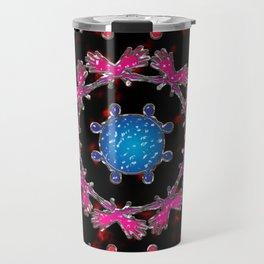 Alien Gemstone Mandala With Red Plasma Travel Mug
