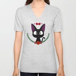 Little Black Cat Unisex V-Neck