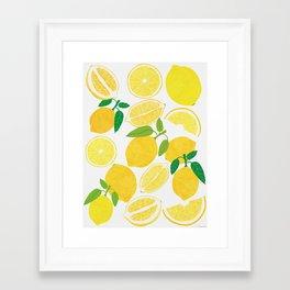 Lemon Harvest Framed Art Print