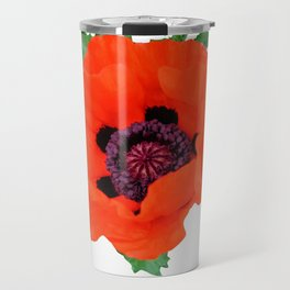 Oriental Poppy Travel Mug